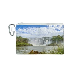 Waterfalls Landscape At Iguazu Park Canvas Cosmetic Bag (S)