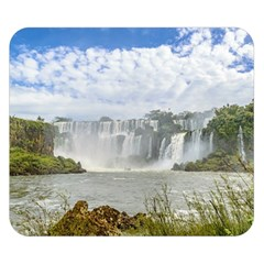 Waterfalls Landscape At Iguazu Park Double Sided Flano Blanket (Small)