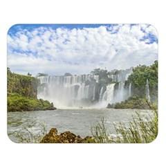 Waterfalls Landscape At Iguazu Park Double Sided Flano Blanket (large)