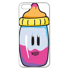 Purp Baby Bottle Apple Seamless iPhone 5 Case (Clear)