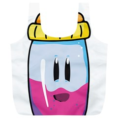 Purp Baby Bottle Full Print Recycle Bags (L)