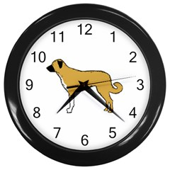 Anatolian Shepherd color silhouette Wall Clocks (Black)