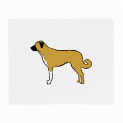 Anatolian Shepherd color silhouette Small Glasses Cloth