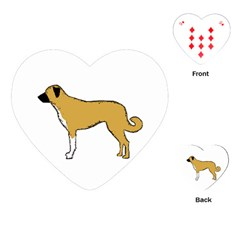 Anatolian Shepherd color silhouette Playing Cards (Heart)