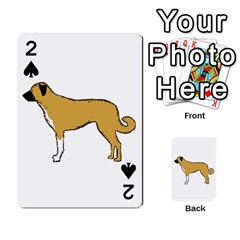 Anatolian Shepherd color silhouette Playing Cards 54 Designs