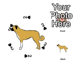 Anatolian Shepherd color silhouette Playing Cards 54 (Round)