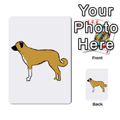 Anatolian Shepherd color silhouette Multi-purpose Cards (Rectangle)