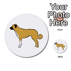Anatolian Shepherd Color Silhouette Multi Purpose Cards (round)