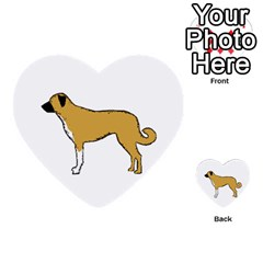 Anatolian Shepherd color silhouette Multi-purpose Cards (Heart)