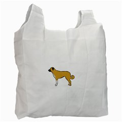 Anatolian Shepherd color silhouette Recycle Bag (Two Side)