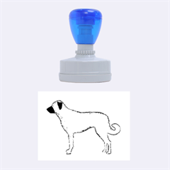 Anatolian Shepherd color silhouette Rubber Oval Stamps