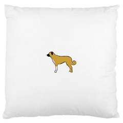 Anatolian Shepherd color silhouette Large Cushion Cases (Two Sides)