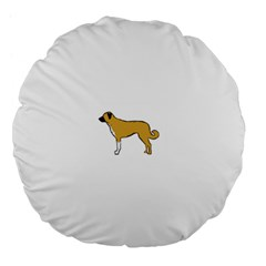 Anatolian Shepherd color silhouette Large 18  Premium Flano Round Cushions
