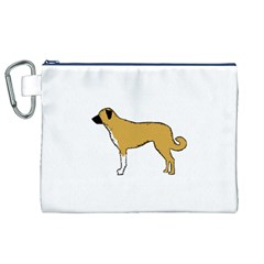 Anatolian Shepherd color silhouette Canvas Cosmetic Bag (XL)