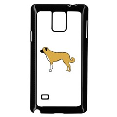 Anatolian Shepherd color silhouette Samsung Galaxy Note 4 Case (Black)