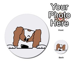 cavalier king charles spaniel Peeping  Multi-purpose Cards (Round)