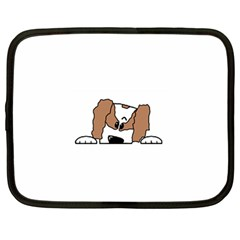 cavalier king charles spaniel Peeping  Netbook Case (Large)