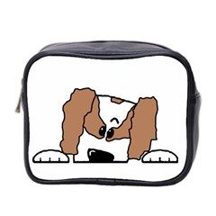 cavalier king charles spaniel Peeping  Mini Toiletries Bag 2-Side