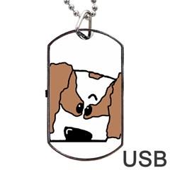 cavalier king charles spaniel Peeping  Dog Tag USB Flash (One Side)