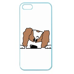 cavalier king charles spaniel Peeping  Apple Seamless iPhone 5 Case (Color)