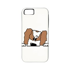 cavalier king charles spaniel Peeping  Apple iPhone 5 Classic Hardshell Case (PC+Silicone)
