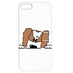 cavalier king charles spaniel Peeping  Apple iPhone 5 Hardshell Case with Stand