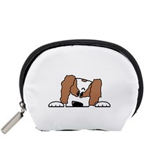cavalier king charles spaniel Peeping  Accessory Pouches (Small)