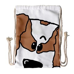 cavalier king charles spaniel Peeping  Drawstring Bag (Large)
