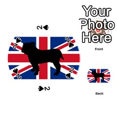 Bulldog Silhouette on flag Playing Cards 54 (Round)