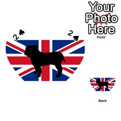 Bulldog Silhouette on flag Playing Cards 54 (Heart)