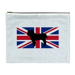 Bulldog Silhouette on flag Cosmetic Bag (XL)
