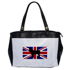 Bulldog Silhouette on flag Office Handbags