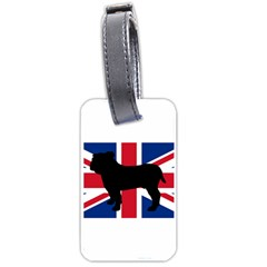 Bulldog Silhouette on flag Luggage Tags (Two Sides)