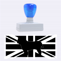 Bulldog Silhouette on flag Rubber Stamps (Large)