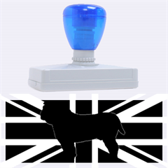 Bulldog Silhouette on flag Rubber Address Stamps (XL)