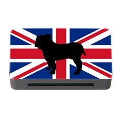 Bulldog Silhouette on flag Memory Card Reader with CF