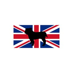 Bulldog Silhouette on flag YOU ARE INVITED 3D Greeting Card (8x4)