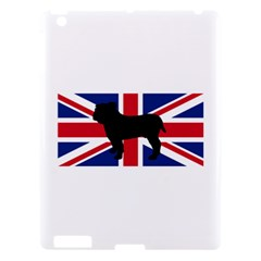 Bulldog Silhouette on flag Apple iPad 3/4 Hardshell Case