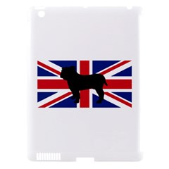 Bulldog Silhouette on flag Apple iPad 3/4 Hardshell Case (Compatible with Smart Cover)