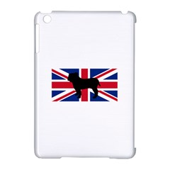 Bulldog Silhouette on flag Apple iPad Mini Hardshell Case (Compatible with Smart Cover)