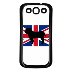 Bulldog Silhouette on flag Samsung Galaxy S3 Back Case (Black)