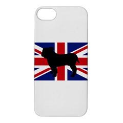 Bulldog Silhouette on flag Apple iPhone 5S Hardshell Case