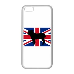 Bulldog Silhouette on flag Apple iPhone 5C Seamless Case (White)