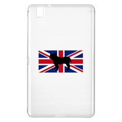 Bulldog Silhouette on flag Samsung Galaxy Tab Pro 8.4 Hardshell Case