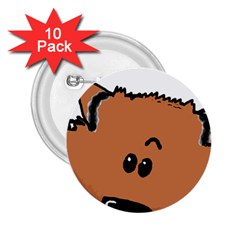 Peeping Pomeranian 2.25  Buttons (10 pack)