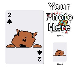 Peeping Pomeranian Playing Cards 54 Designs