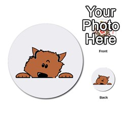 Peeping Pomeranian Multi-purpose Cards (Round)