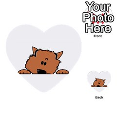 Peeping Pomeranian Multi-purpose Cards (Heart)