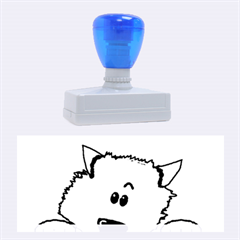 Peeping Pomeranian Rubber Stamps (Large)