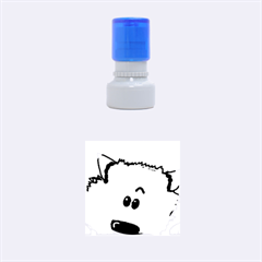 Peeping Pomeranian Rubber Round Stamps (Small)